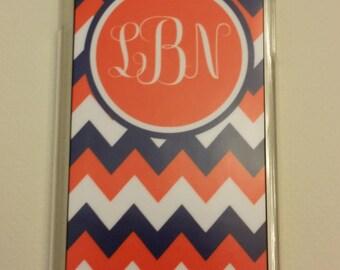 IPhone 6 + Phone Case Chevron with Monogram Phone Cover