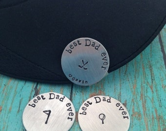 best Dad ever Golf Ball Marker and Hat Clip Personalized Magnetic Golf Ball Marker