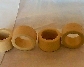 Four Nice Wooden Napkin Rings!!!!