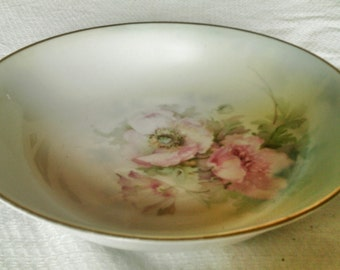 Lovely Hand painted Royal Rudolstadt Prussia Porcelain Serving Bowl
