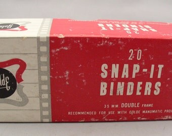 35 MM Camera Slides Snap-It Binders by Golde - Old Store Stock 1940s