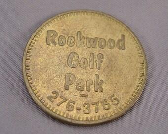 "Rockwood Golf Park Token -  Brass 1 1/8"" Diameter"