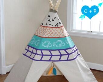 Hand painted teepee