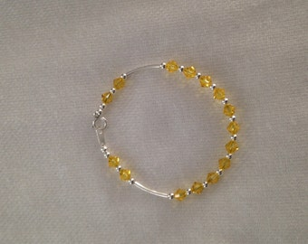 bracelet in Silver 925 with glass in yellow