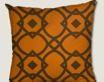 Pillow cover, decorative cushions in Geo Orange fabrics, several sizes