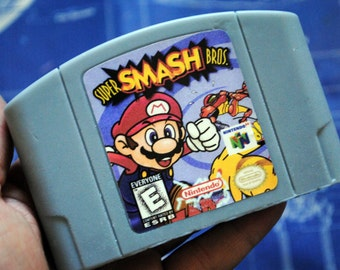 N64 Super Smash Bros Cart Soap: Retro and geeky! Handmade cartridge soap - Super Smash Bros, Parody Cart