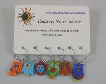 Wine Rings - Set of 6. Choose your favorite.