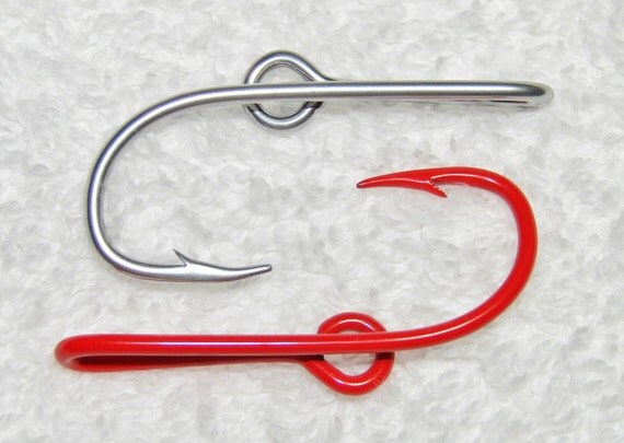 New combo colors 1 chrome silver 1 bright red by fishingnw for Fishing hooks for hats