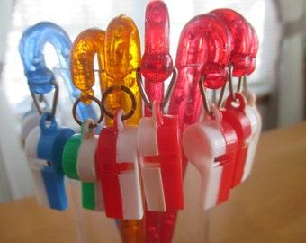 Vintage Whistle Stirrers  set of 8