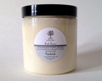 Whipped Body Butter - Patchouli, All Natural Body Butter , All Natural Whipped Body Butter, Patchouli Body Butter (8 oz.)