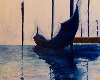 "Prints of ""Blue and White Gondola"""
