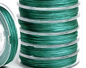 TEAL - Nylon Chinese Knotting Cord - 10 yards - 0.5mm 0.8mm