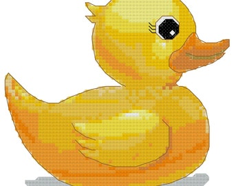Cross stitch pattern duckling