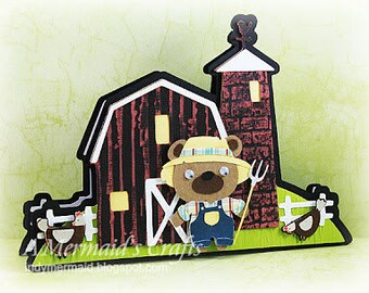 Handmade Farm Scene Greeting Card