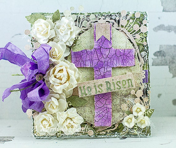 Handmade Shabby Chic Easter Card by AMermaidsCrafts on Etsy
