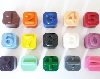 maths crayon set