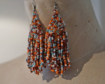 Vintage boho beaded earings