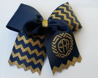 FFA blue ribbon cheer bow
