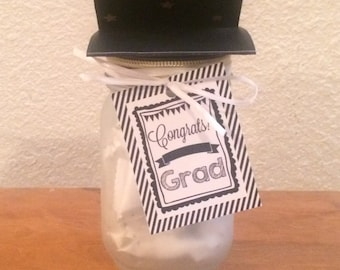 Graduation frosted mason jars!