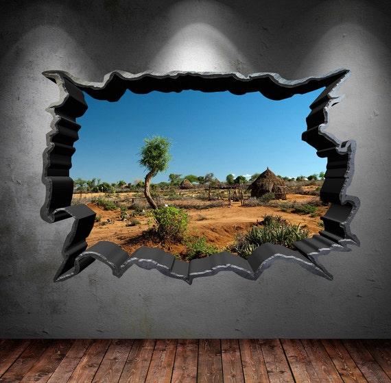 Zerbrochene loch safari bereich zuhause voller farbe und 3d - Murales camera da letto ...