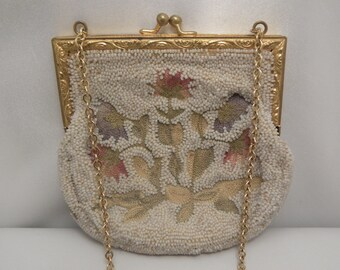 Vintage FRENCH Art Deco Beaded & Embroidered Ladies' Dance Purse