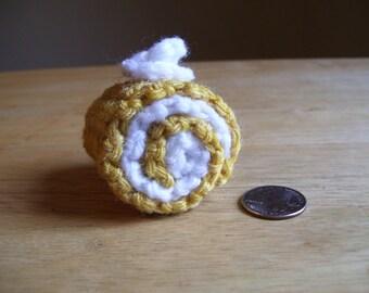 Pincushion/Home decor Hand Crochet Roulade Cake