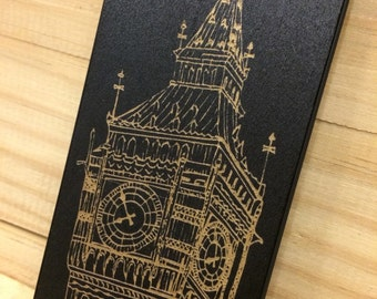 Bigben Engraved On Black Color Dipped Wooden Case, iPhone 4/4S, iPhone 5/5S, Samsung Galaxy 3, Samsung Galaxy 3