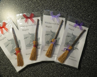 Small alter Besom brooms ~ Witches Broomsticks ~ travel size