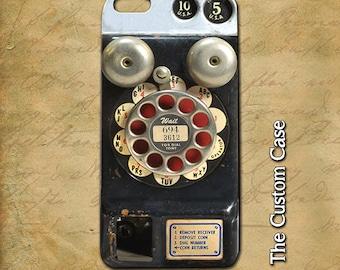 Retro Payphone Phone Case, Vintage Payphone Iphone Case, Steampunk Phone Iphone case, Vintage Payphone Case, Iphone 4, Iphone 5, Iphone 6,6+