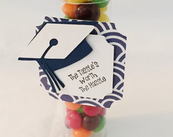 Candy Tube Favors - Party Favors - Graduation Candy Tube Favors, Set of 10 - Graduation Favors -  Party Favor-Gumball Tube-Candy Favor Tubes