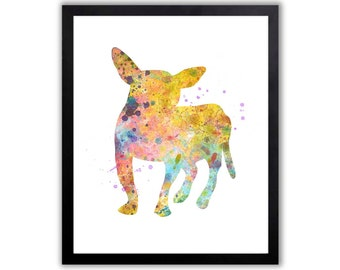 Chihuahua Art, Abstract Watercolor, Dog Paintings, Dog Art Print, Gift for Her - CHI001