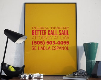 Better Call Saul Poster - Attorney At Law, Se Habla Espanol, Breaking Bad