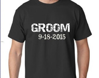 Custom Groom Shirt for the Groom and Husband to BE with Wedding Date