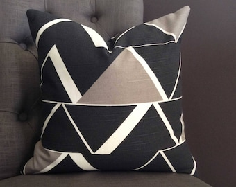 Pillow Cover, Black Pillow Cover, RIVINGTON