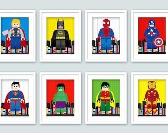 Superhero Wall Art girl superhero wall art superhero posters bedroomenipixels
