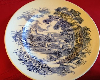 Vintage Enoch Wedgewood (Tunstall) Ltd. Countryside Blue and White Plate