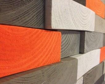 Reclaimed Wood Sculpture - Modern Wood Wall Art