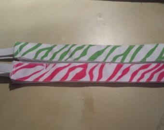 Zebra NonSlip Headband - Handmade