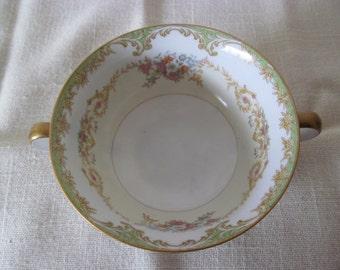 Vintage Noritake China Cream Soup Bowl - Bayard Pattern