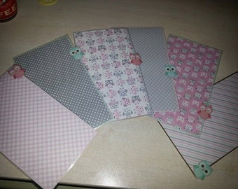 Personal Dividers Owls Tenerelli Pink!  Customizable Pocket or A5
