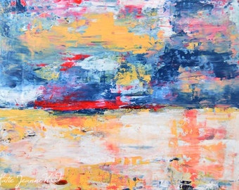 Landscape Painting Print. Abstract Digital Print. Gift For Father's Day Dad Man Men.