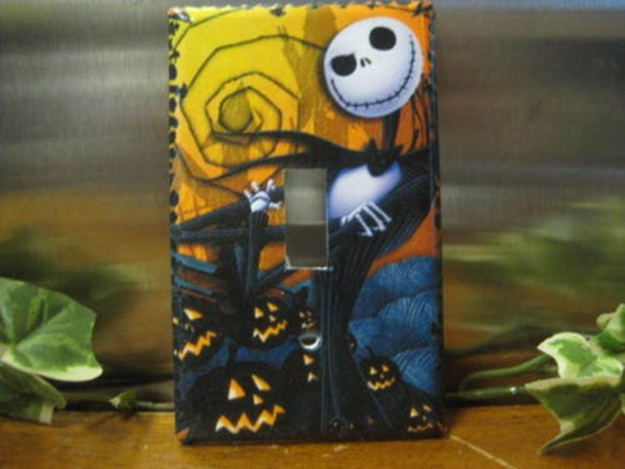 Wall Heath Christmas Lights Switch On : Nightmare Before Christmas Light Switch Wall Plate Cover 10