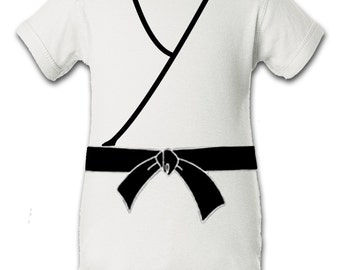 Baby Karate Kid Inspired Character Onesie Infant Baby Newborn Onesie Creeper Crawler One Piece Bodysuit 100% combed ringspun cotton