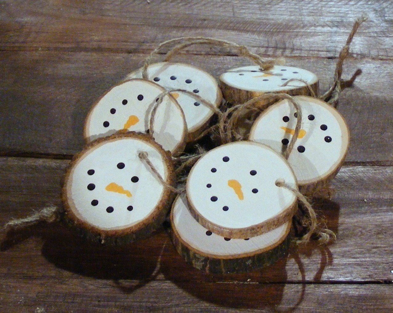 Rustic Christmas Ornaments Snowman Ornaments Christmas Ornament Set Rustic Christmas