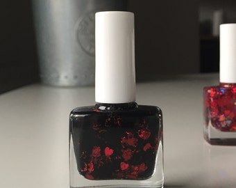 Black Valentine - The Valentine's Collection - handmade in the UK Indie Nail Polish - 10ml