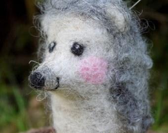 felt hedgehog, pincushion hedgehog, felt pincushion, felted hedgehog, needlefelt pincushion, needle felted animal, handmade craft supplies