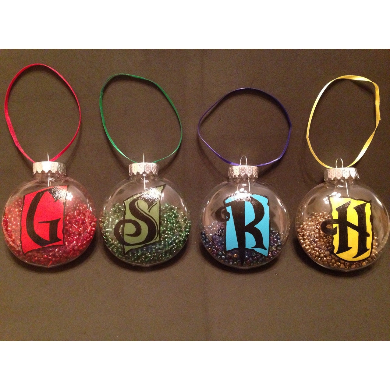 harry potter hogwarts house points set of 4 ornaments. Black Bedroom Furniture Sets. Home Design Ideas