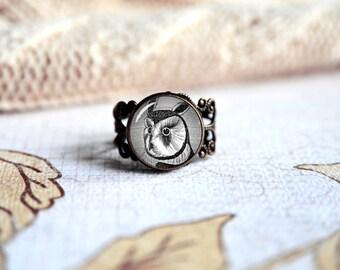 wise owl zeichnung verstellbarer ring antik silber oder antik bronze whlen sie ihr finish - Fantastisch Heimwerken Entzuckend Schlafzimmer Set Weiss Idee