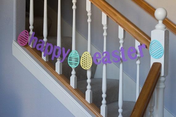 Happy Easter banner, Easter, Spring, Pastels, Eggs