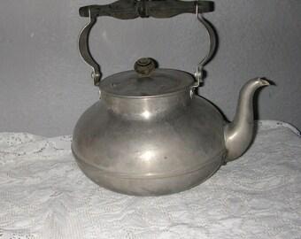 Vintage teapot stainless steel 70s
